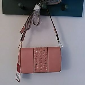 Enzo Angiolini rose color purse. Stud detail.